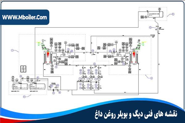 نقشه فنی دیگ روغن داغ