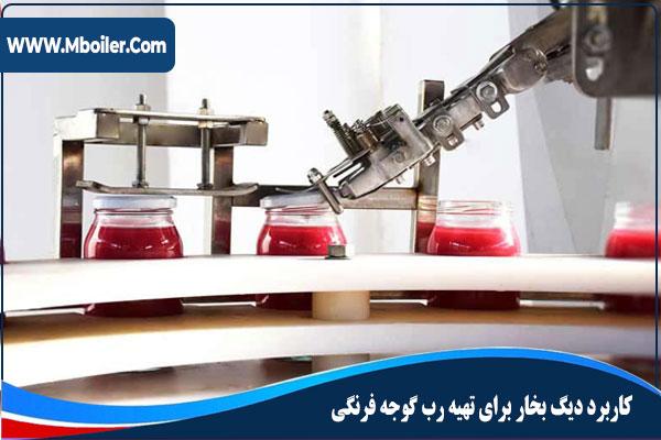 کاربرد دیگ بخار برای تهیه رب گوجه فرنگی